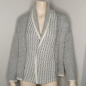 Gap Open Front Soft Textured Shawl Collar Cardigan